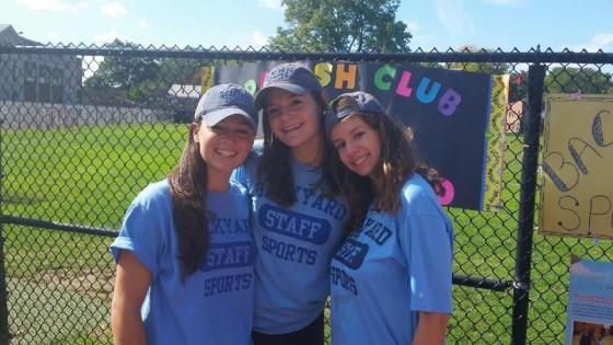 Pictured from left: Paulina Paras, Holzberg, Sydney Farrell at the MHS Club Fair