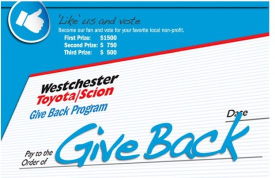 Westchester Toyota Facebook Give Back