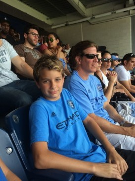 Connor at NYCFC game with BYS