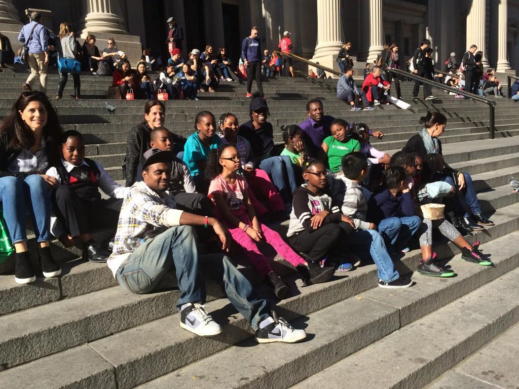 bysc outside the Metropolitan Museum of Art