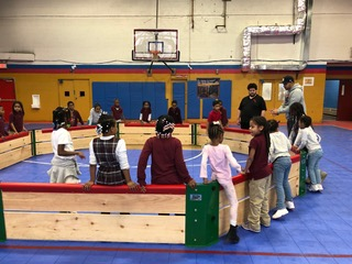New GaGa Pit installed at the Mt. Vernon Boys and Girls Club in January 2018
