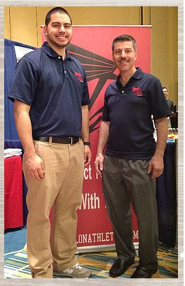 Pictured from left: Talon Athletics co-owners, Perez and Scott Blumberg
