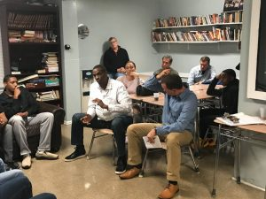 Doc Gooden talks with teens from the Youth Shelter of Westchester